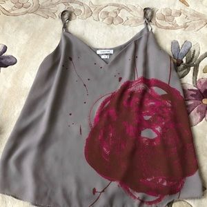 Aritzia Tops - Aritzia Bavarian Gray and Pink Top sz M